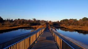 Puente del pantano de la isla de Assateague Fotos de archivo libres de regalías