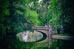 Puente del parque Foto de archivo libre de regalías