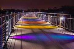 Puente del parque del lago Gray's Fotos de archivo