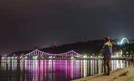 Puente del paseo Fotografía de archivo