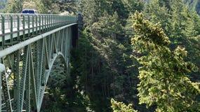 Puente del paso del engaño, Washington State, los E.E.U.U. Imagen de archivo libre de regalías