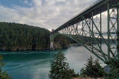 Puente del paso del engaño en Washington State los E.E.U.U. fotos de archivo libres de regalías