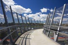 Puente del peatón y de la bicicleta imagen de archivo