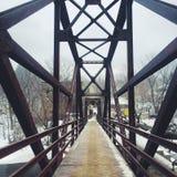 Puente del pie Fotos de archivo libres de regalías