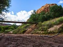 Puente del pie, Canyon de Chelly Fotografía de archivo libre de regalías
