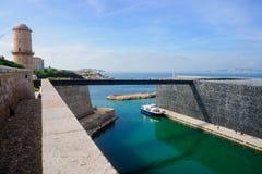 Puente del pie de St-Jean del fuerte Fotografía de archivo libre de regalías