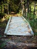 Puente del pie sobre la corriente 2 foto de archivo libre de regalías