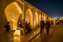 Puente del político Si-o-seh en Isfahán, Irán Foto de archivo