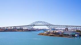 Puente del puerto en Corpus Christi Foto de archivo libre de regalías