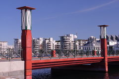 Puente del puerto que navega Fotografía de archivo