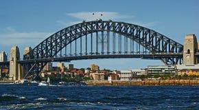 Puente del puerto que recorre Foto de archivo