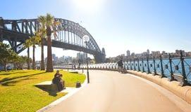 Puente del puerto, señal de Sydney Imagen de archivo