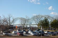 Puente del río de Mississppi Imágenes de archivo libres de regalías