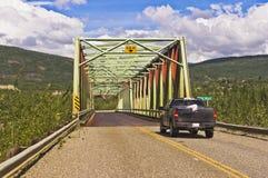 Puente del río de Pelly imagen de archivo libre de regalías