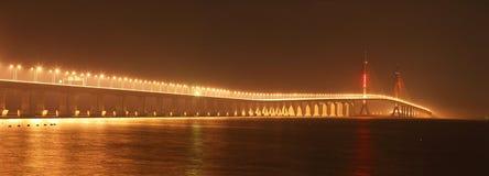 Puente del río de Shangai Yangtze Imágenes de archivo libres de regalías