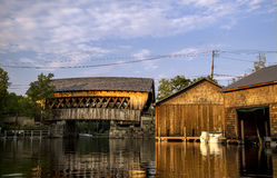 Puente del río de Squam (#65), Ashland, New Hampshire Foto de archivo