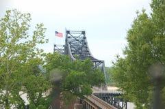 Puente del río Misisipi Foto de archivo libre de regalías