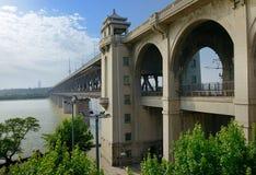 Puente del río Yangzi, China Foto de archivo libre de regalías