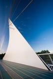 Puente del reloj de sol, Redding, California Foto de archivo libre de regalías