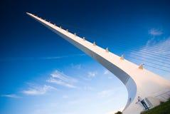 Puente del reloj de sol, Redding, California Foto de archivo