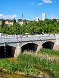 Puente del Rey bridge over the Manzanares river in Madrid. Stock Image