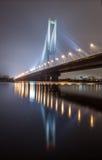 Puente del sur del invierno en Kiev. Fotos de archivo libres de regalías