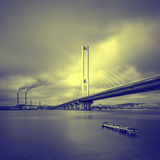 Puente del sur. Ucrania. Kiev. Fotografía de archivo