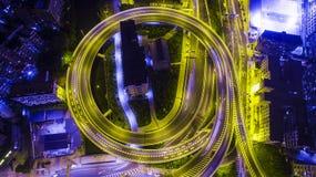 Puente del túnel de Guangzhou zhu jiang fotos de archivo