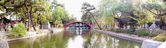 Puente del tambor de la capilla de Sumiyoshi Taisha, Osaka Foto de archivo libre de regalías