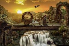 Puente del tiempo foto de archivo libre de regalías