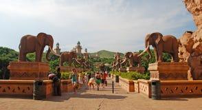 Puente del tiempo en Sun City, Suráfrica. Fotografía de archivo libre de regalías