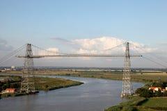 Puente del transportador en Francia fotografía de archivo
