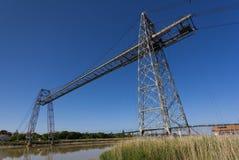 Puente del transportador que cruza el Charente, Rochefort Imágenes de archivo libres de regalías