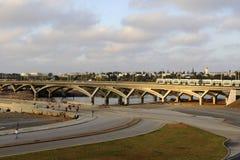 Puente del tranvía entre Rabat y Salé Fotos de archivo libres de regalías