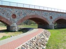 Puente del tren de la reconstrucción Imágenes de archivo libres de regalías