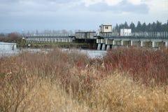 Puente del tren del oscilación de Nicomekl Imagenes de archivo