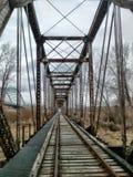 Puente del tren sobre el río Missouri fotografía de archivo libre de regalías