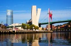 Puente del ungüento del La en Bilbao Foto de archivo libre de regalías