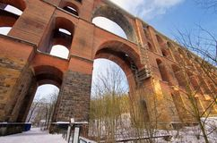 Puente del valle de Goltzsch en invierno Fotos de archivo libres de regalías