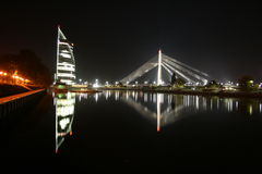 Puente del vamt de Letonia Riga Foto de archivo