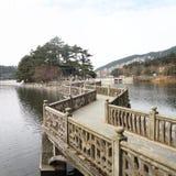 Puente del zigzag Fotografía de archivo