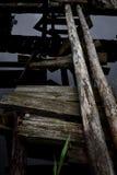Puente derrumbado Imagen de archivo libre de regalías