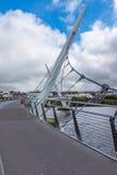 Puente Derry Northern Ireland de la paz Imagen de archivo libre de regalías