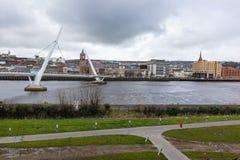 Puente Derry Northern Ireland de la paz Imagen de archivo