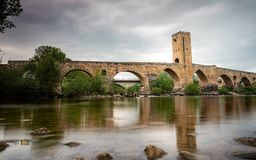 Puente di Frias Burgos fotografie stock libere da diritti