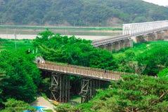 Puente DMZ, Corea de la libertad. Imagen de archivo libre de regalías