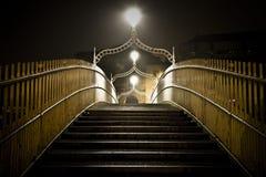 Puente Dublín Irlanda del medio penique Imágenes de archivo libres de regalías