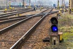 Puente eléctrico de la manera del tren Fotografía de archivo libre de regalías