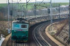 Puente eléctrico de la manera del tren fotos de archivo libres de regalías