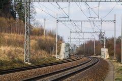 Puente eléctrico de la manera del tren Fotografía de archivo